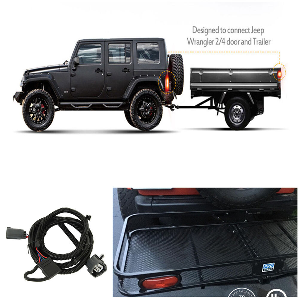 medium resolution of details about 65 trailer hitch wiring harness 4 pin connector for jeep wrangler jk 2 4 07 17