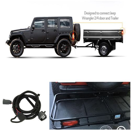 small resolution of details about 65 trailer hitch wiring harness 4 pin connector for jeep wrangler jk 2 4 07 17