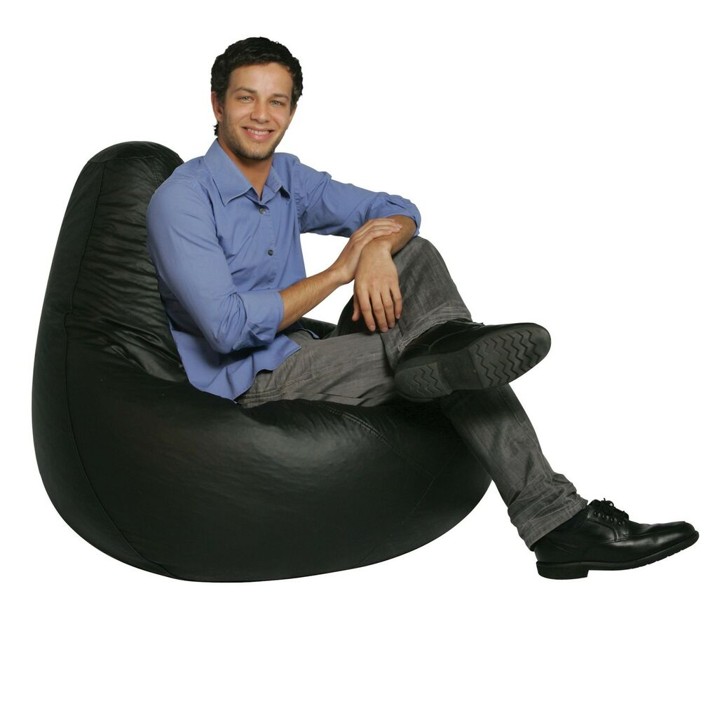 Bean Bag Chair Covers Only Bean Bag Factory Adult Size Black Vinyl Bean Bag Chair Cover Only