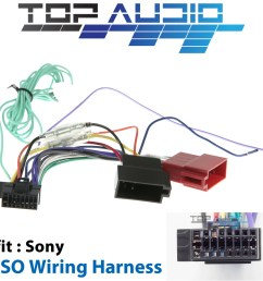 fit sony xav ax100 xav ax200 iso wiring harness cable lead loom wiredetails about fit sony [ 1000 x 1000 Pixel ]