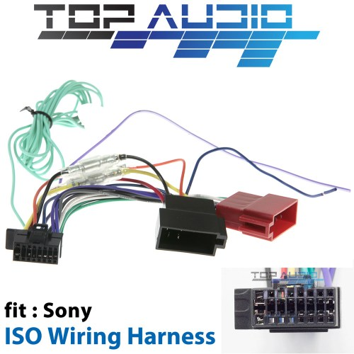 small resolution of fit sony xav ax100 xav ax200 iso wiring harness cable lead loom wiredetails about fit sony