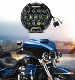details about 7 led headlight projector chrome for honda shadow vt vt1100 vt750 vt600 vf750 [ 1000 x 1000 Pixel ]