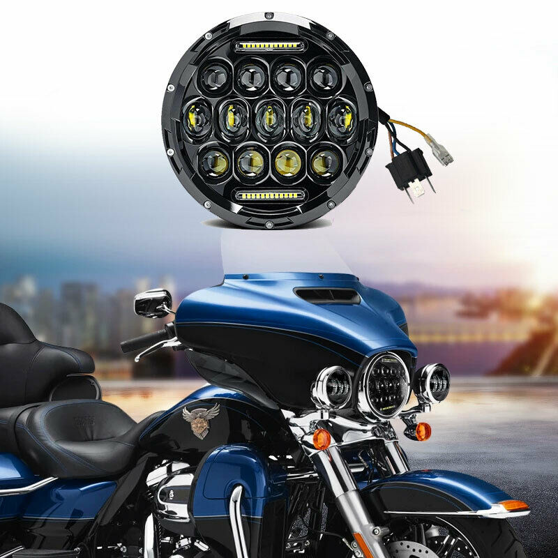 hight resolution of details about 7 led headlight projector chrome for honda shadow vt vt1100 vt750 vt600 vf750