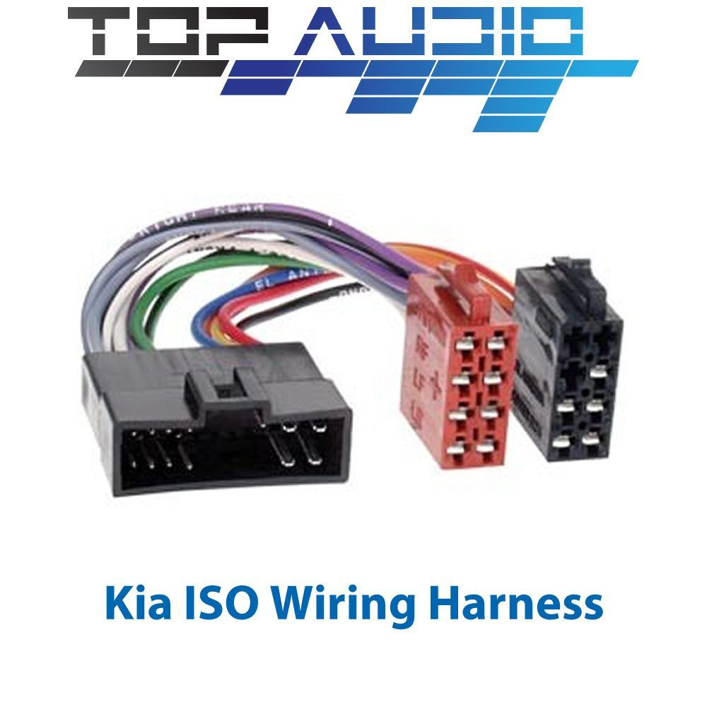hight resolution of details about fit kia iso wiring harness stereo radio cable lead loom connector adaptor