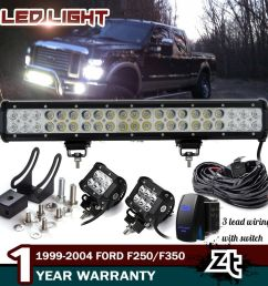 details about 20 126w led light bar 1999 04 f250 f350 expedition bull bar bumper grill guard [ 1000 x 1000 Pixel ]