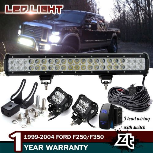small resolution of details about 20 126w led light bar 1999 04 f250 f350 expedition bull bar bumper grill guard