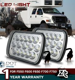 for ford f550 f600 f650 f700 f750 super duty truck 7x6 led upgrade headlights [ 1000 x 1000 Pixel ]