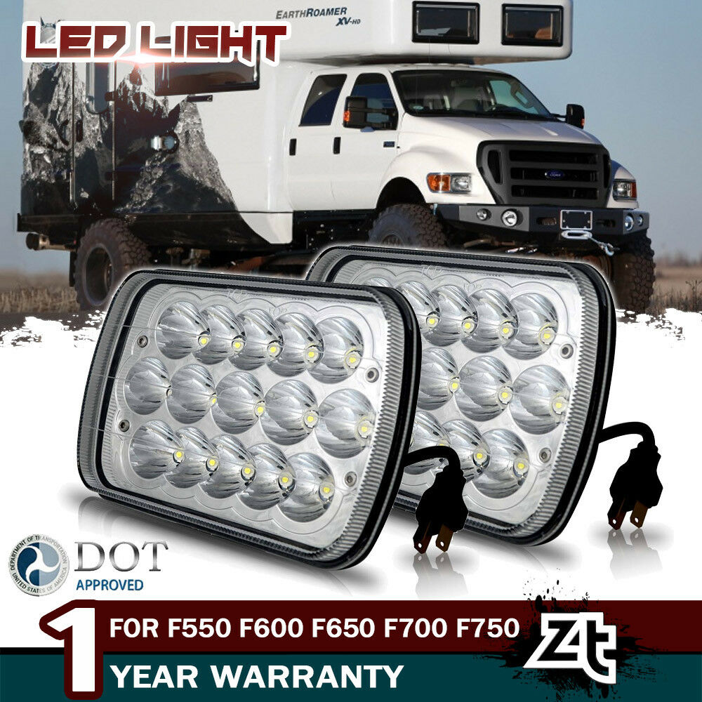 hight resolution of for ford f550 f600 f650 f700 f750 super duty truck 7x6 led upgrade headlights