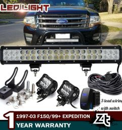 details about 20 126w led light bar 1997 03 f150 1999 expedition bull bar bumper grill guard [ 1000 x 1000 Pixel ]