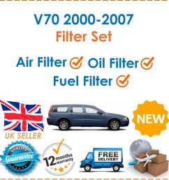 details about for volvo v70 2 4d 9 2000 2007 fuel oil air filters 3 filter service kit new [ 1000 x 993 Pixel ]