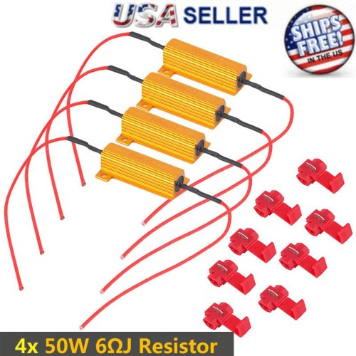 small resolution of details about 4pcs load resistor 50w 6rj led decoder fix error code hyper flash turn signal