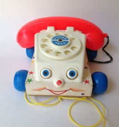 details about vintage fisher price 1961 chatter phone 747 pull toy [ 1000 x 1000 Pixel ]