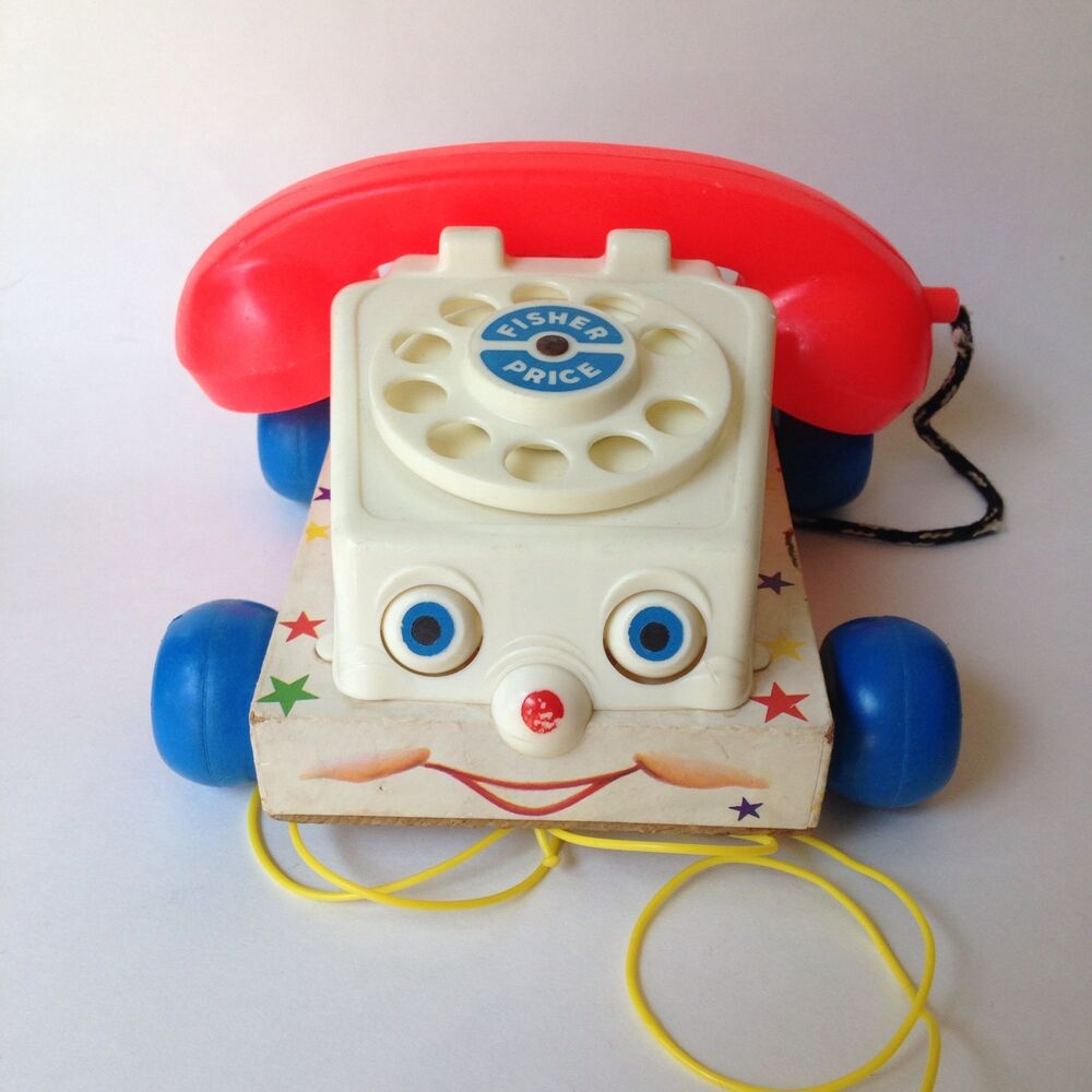 hight resolution of details about vintage fisher price 1961 chatter phone 747 pull toy