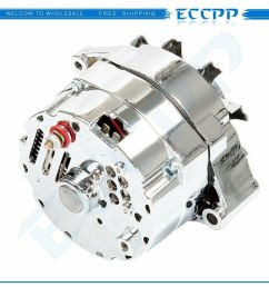 details about for chrome bbc sbc chevy gm alternator 1 wire chevy 327 350 396 427 454 120amp [ 1000 x 1000 Pixel ]