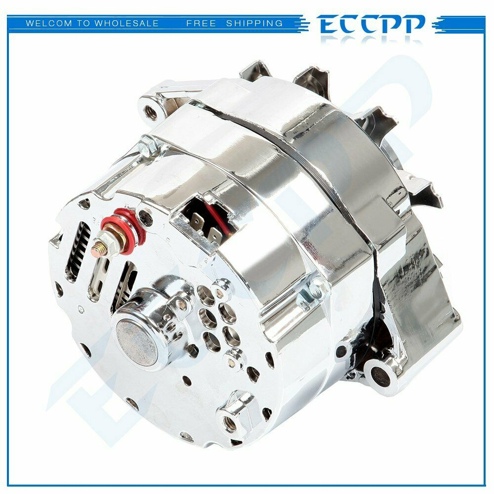 hight resolution of details about for chrome bbc sbc chevy gm alternator 1 wire chevy 327 350 396 427 454 120amp