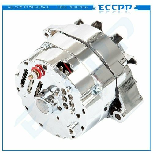 small resolution of details about for chrome bbc sbc chevy gm alternator 1 wire chevy 327 350 396 427 454 120amp