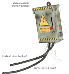 details about halloween prop live electrical fuse box kill switch animatronic voltage real [ 850 x 945 Pixel ]