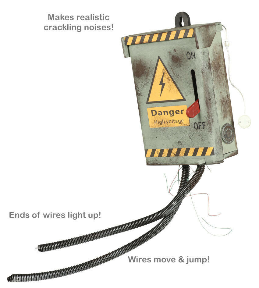 hight resolution of details about halloween prop live electrical fuse box kill switch animatronic voltage real