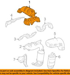 details about toyota oem 04 06 sienna 3 3l v6 exhaust manifold right 1714020030 [ 1000 x 798 Pixel ]