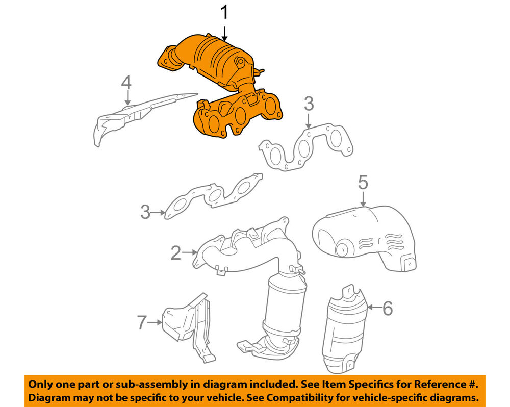 hight resolution of details about toyota oem 04 06 sienna 3 3l v6 exhaust manifold right 1714020030