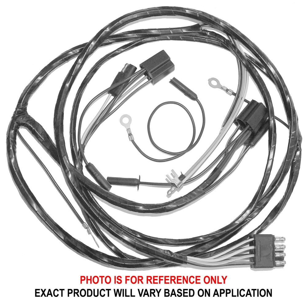 hight resolution of details about 1967 ford mustang headlight wire harness with tachometer non gt 67 22805 new