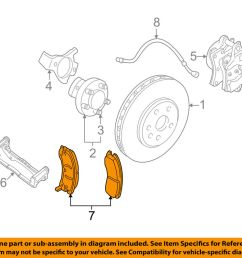 details about gm oem brake front pads 19259588 [ 1000 x 798 Pixel ]