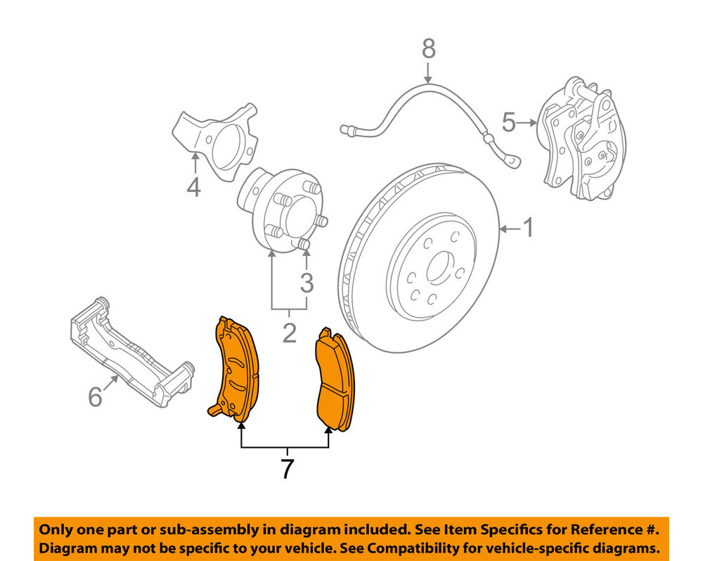 hight resolution of details about gm oem brake front pads 19259588