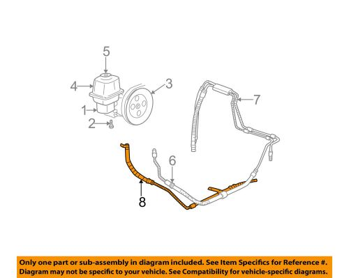 small resolution of details about gm oem power steering return hose 26087520