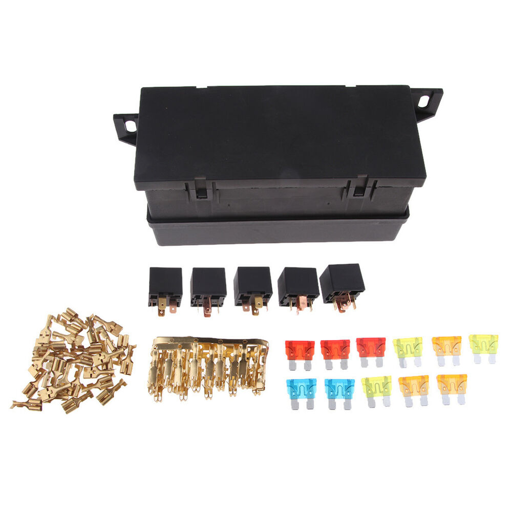 hight resolution of details about universal 11 ways auto fuse box assembly with 5pin relay