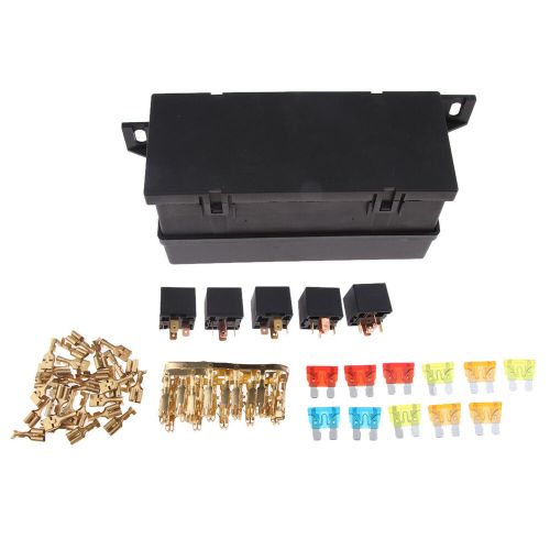 small resolution of details about universal 11 ways auto fuse box assembly with 5pin relay