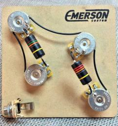 details about emerson custom pre wired kit for 4 knob prs guitars [ 1000 x 1000 Pixel ]