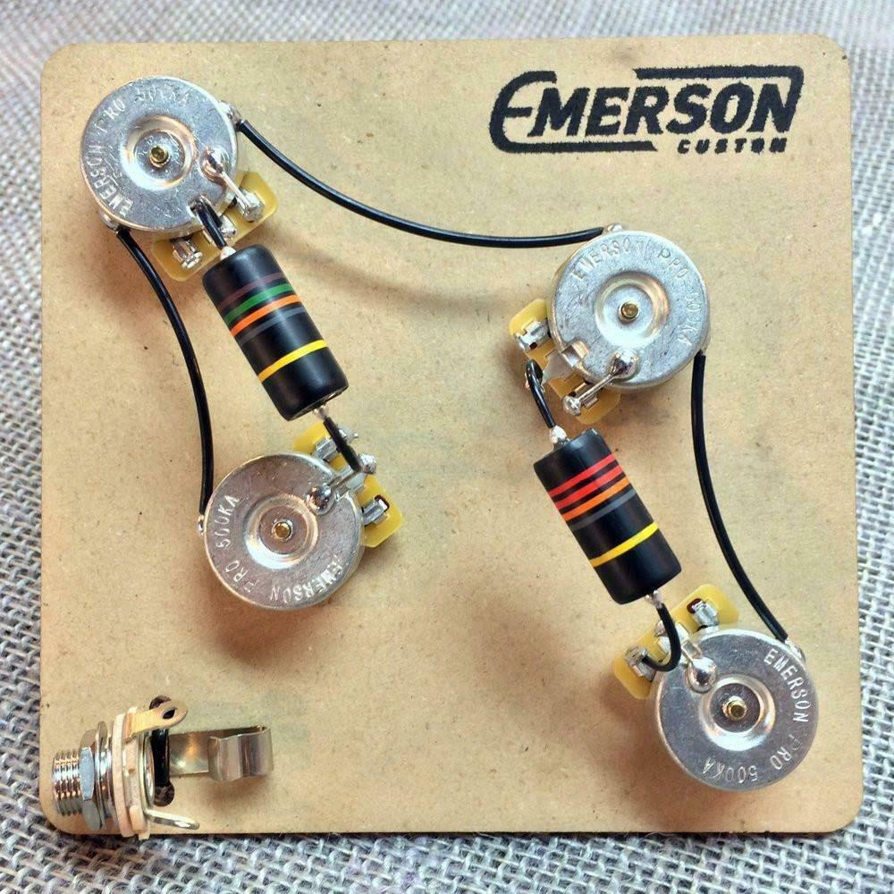 hight resolution of details about emerson custom pre wired kit for 4 knob prs guitars