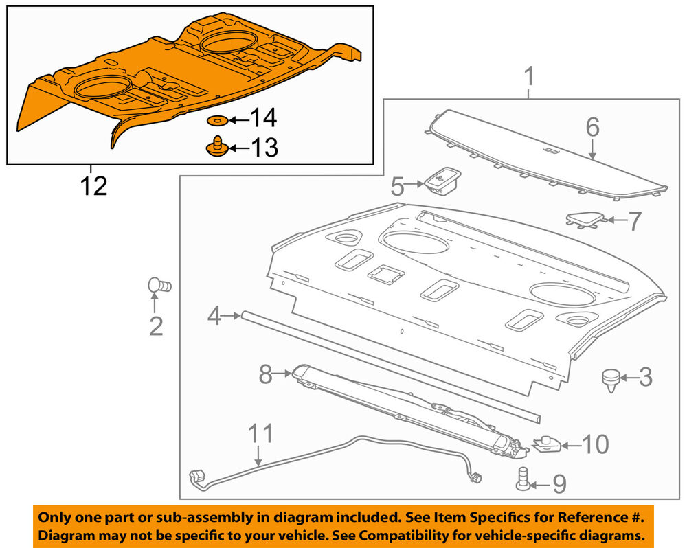hight resolution of details about cadillac gm oem 14 18 cts interior rear lower trim 23478897