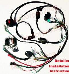 details about electric wiring harness kit magneto stator for gy6 125cc 150cc atv quad scooter [ 1000 x 1000 Pixel ]