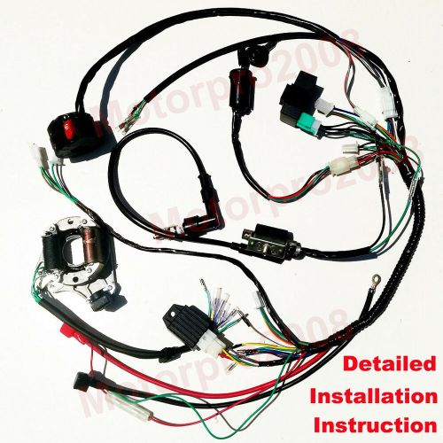 small resolution of details about electric wiring harness kit magneto stator for gy6 125cc 150cc atv quad scooter