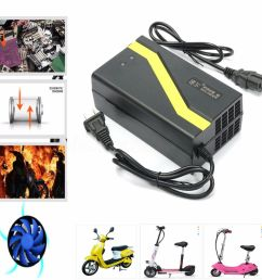 details about 48v 20ah us plug lead acid battery charger for electric bicycle bike scooters [ 1000 x 1000 Pixel ]