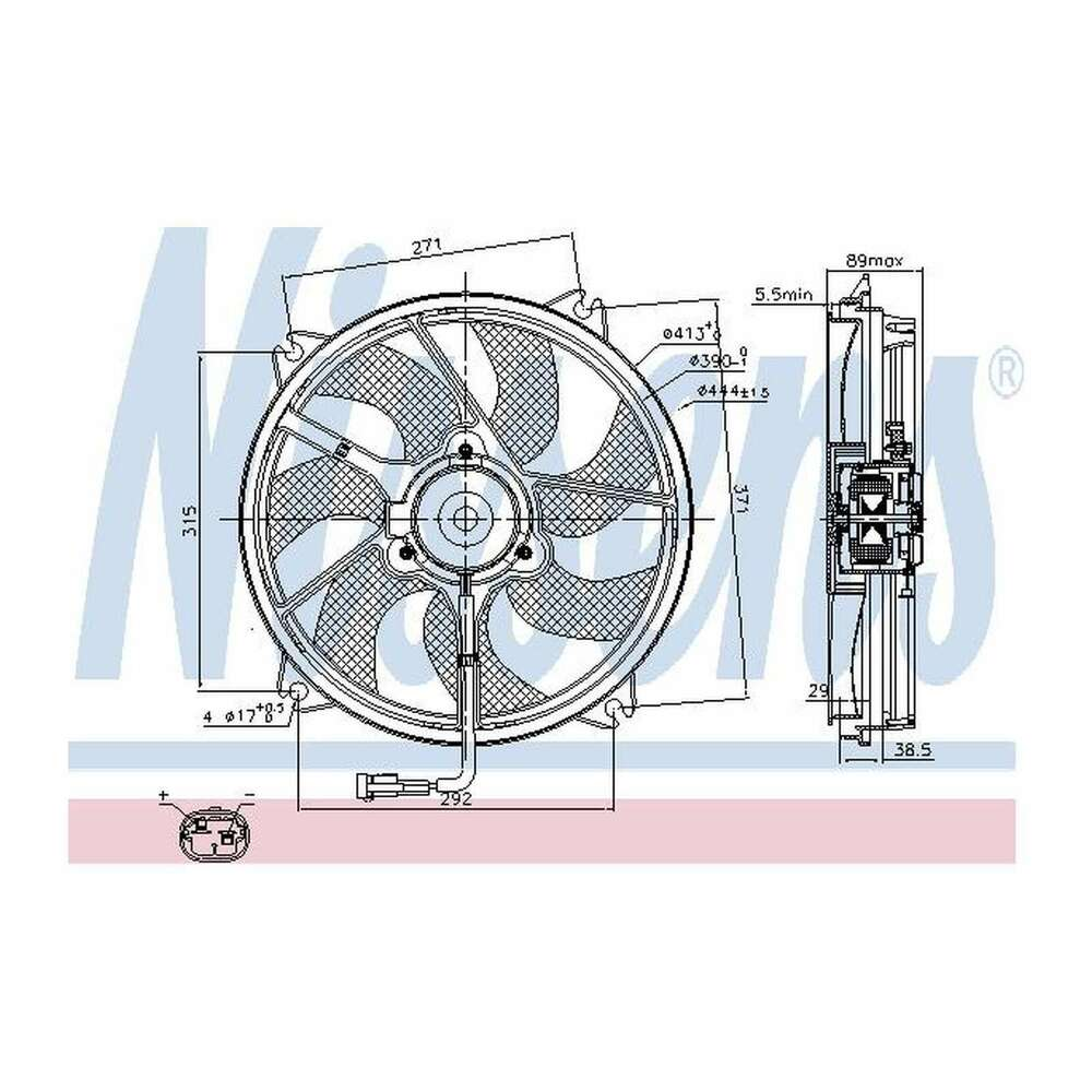 hight resolution of details about fits peugeot expert tepee 2 0 hdi 140 nissens engine cooling radiator fan