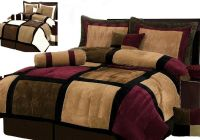 Burgundy or White + Brown and Black Suede Patchwork ...