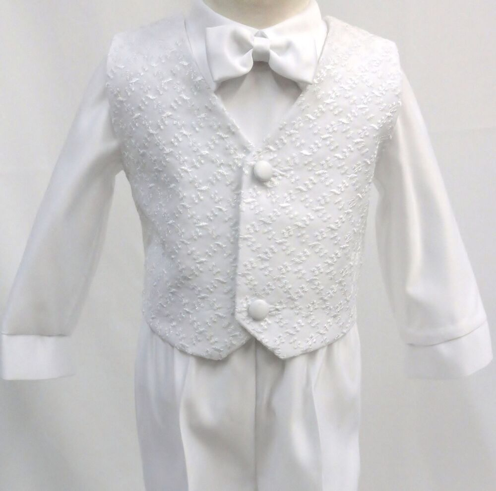Infant Toddler Boy Christening Baptism White Suit Outfit size S M L XL 2T 3T 4T  eBay