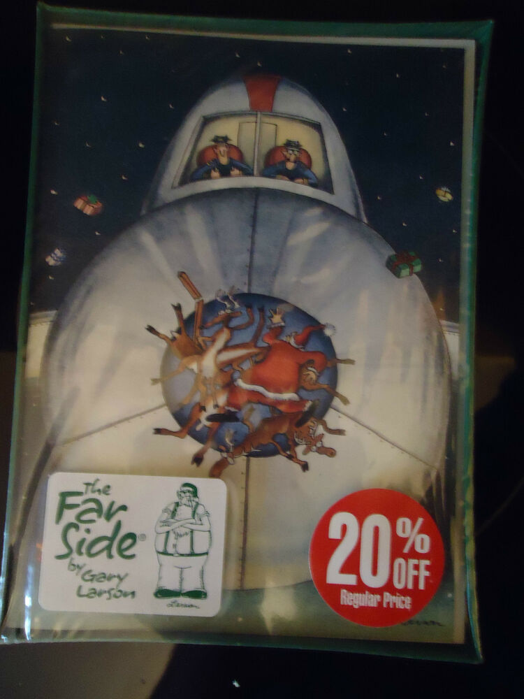The Far Side By Gary Larson Christmas Cards Airplane