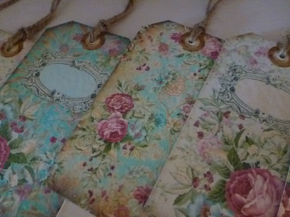 SHABBY CHIC PERSONALISED WEDDING GIFT TAGSFAVOUR PLACE CARDS VINTAGE FLORAL  eBay