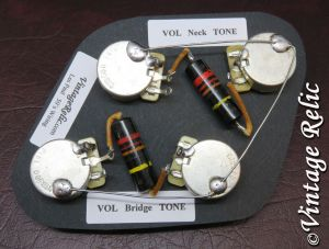 Upgrade Wiring Kit vintage 1950s Bumblebee Caps CTS fit Gibson Les Paul Historic | eBay