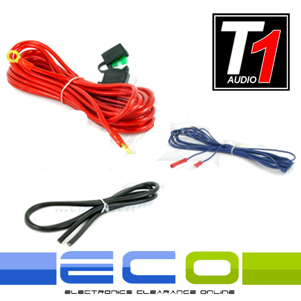 hight resolution of details about 10 awg 800 watt car amplifier amp sub 10 gauge power earth remote wiring kit