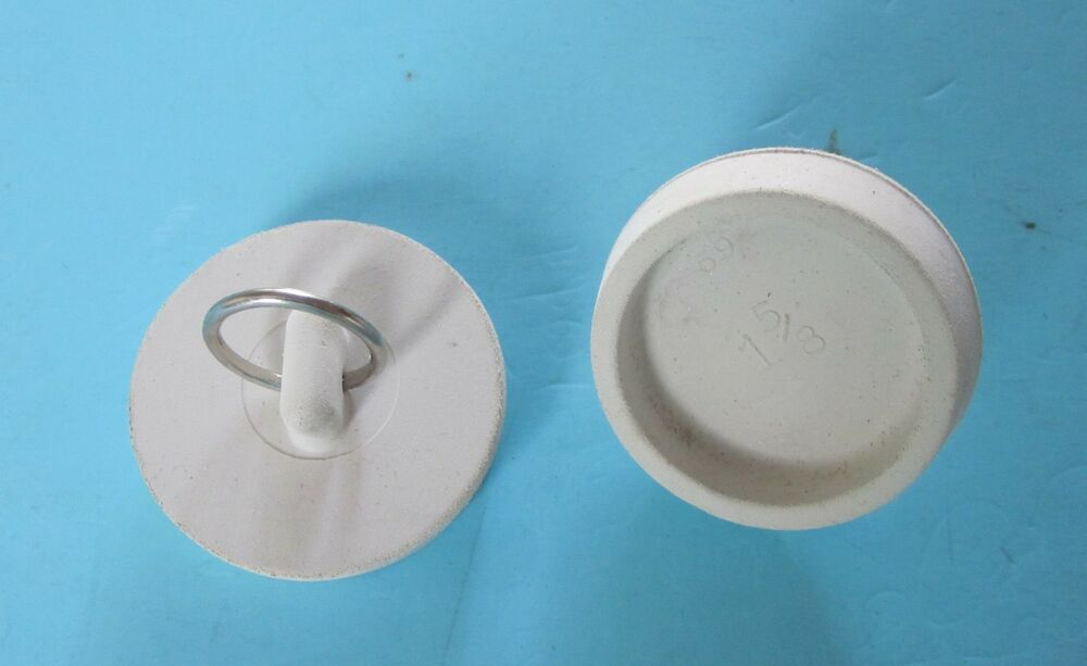 White Rubber Basin Sink Tub Stopper with Nickel Plated Ring NEW  eBay