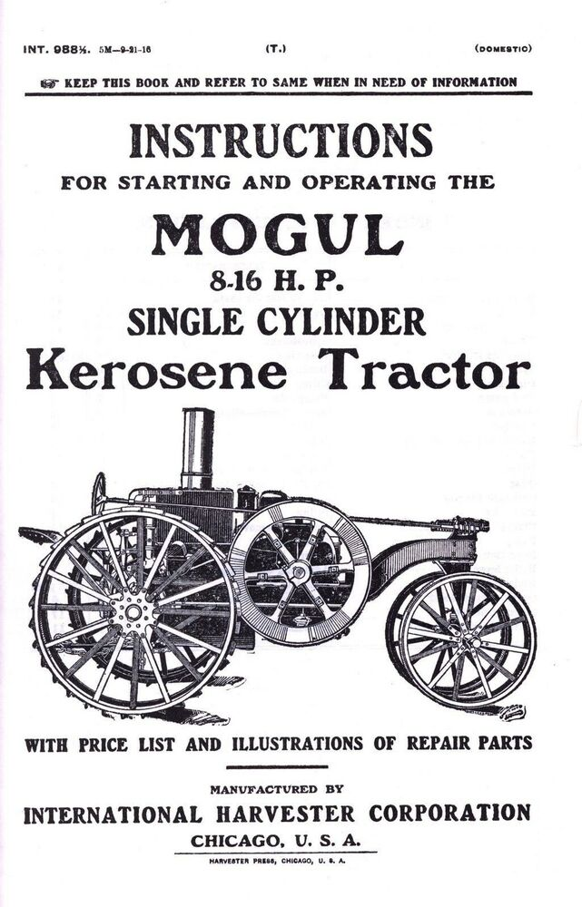 International Harvester Mogul 8-16 HP Kerosene Tractor