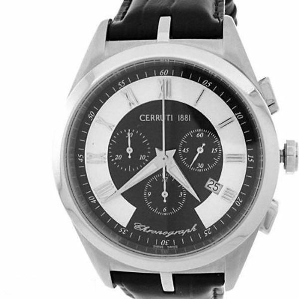 Cerruti Mens Tradizione Swiss Chronograph Watch Black
