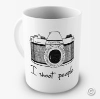 I Shoot People Camera Photography Novelty Funny Mug Tea
