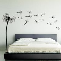 Dandelion Flower Wind Blowing Floral Wall Art Sticker ...
