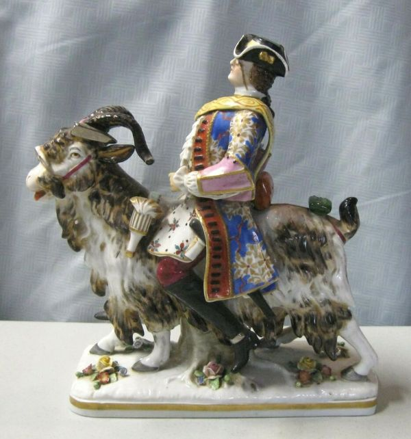 "Sitzendorf Porcelain 9 1 2"" Figurine Depicting Man Riding"