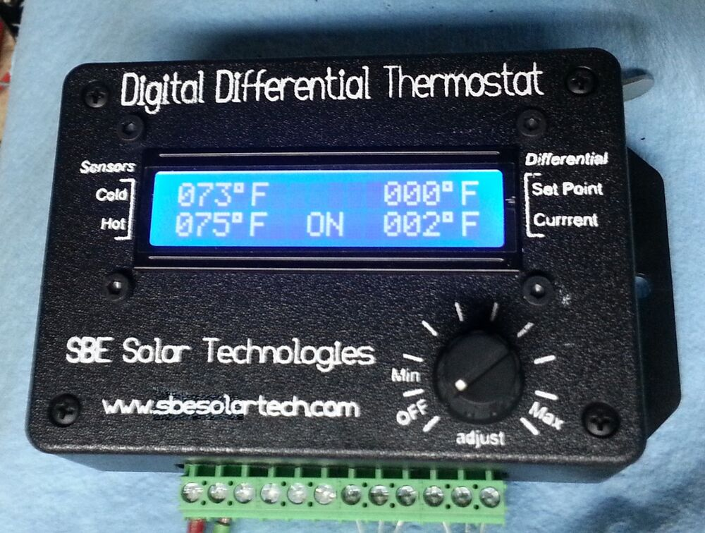 Solar Hot Water Panel Differential Pump Controller